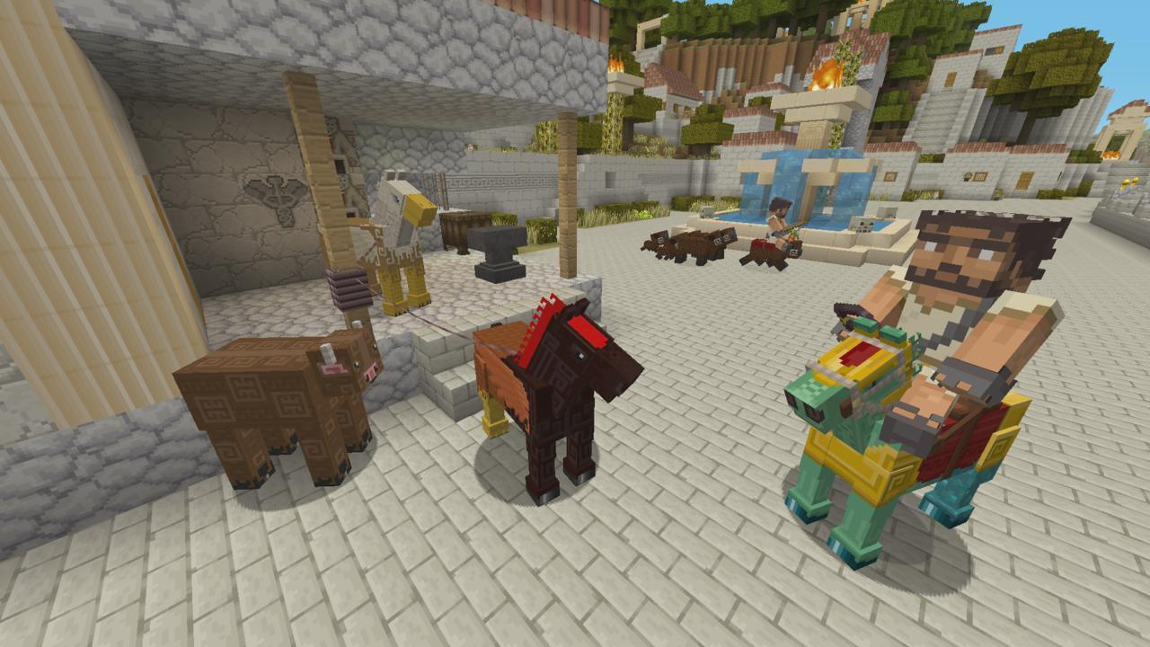 Minecraft Xbox One, PS4 Gets Greek Mythology DLC