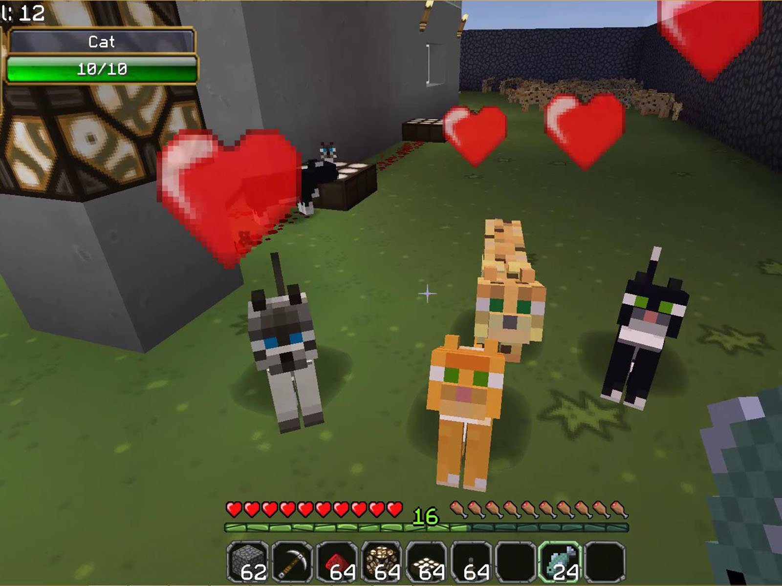 How to get a pet cat in minecraft creative